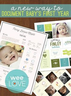 Easily create a beautiful visual of baby's first year with @Blinkbuggy.