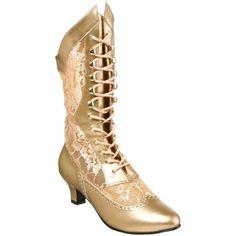 Funtasma FUNTASMA DAME-115 Women's Lace Up Kitty Heel Steampunk Victorian Mid Calf Boots