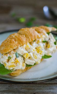 Mango Chicken Salad Sandwiches