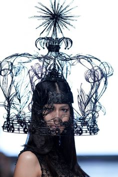 Rinaldy A. Yunardi headpiece for Tex Saverio at Jakarta Fashion Week 2014