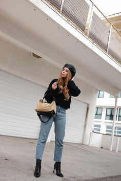teetharejade Outfit: Leather Beret & Pointy Boots » teetharejade