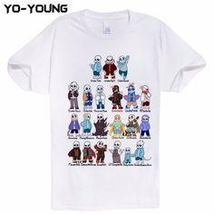 Men's Clothing Sunny Hottest Game Undertale Printed Interesting Cartoon Leisure Short Sleeve T-shirt O Neck T-shirts 100 % Cotton Tee Shirt