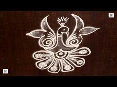 Simple Kolam / rangoli Design without using Dots Small Rangoli Design, Rangoli Designs Images, Beautiful Rangoli Designs, Mehandi Designs, Peacock Rangoli, Kolam Rangoli, Simple Rangoli, Alpona Design, Latest Rangoli