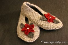 Pantofole in lana - Knitted slippers