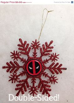 Your place to buy and sell all things handmade Deadpool Christmas, Tacky Christmas, Glass Christmas Ornaments, Christmas And New Year, Christmas Tree Decorations, Christmas Time, Christmas 2016, Christmas Ideas, Deadpool Gifts