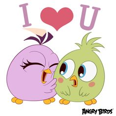 New trending GIF tagged love facebook i love you angry birds...