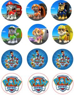 Paw Patrol Edible Image Cupcake Toppers by ShoreCakeSupply on Etsy