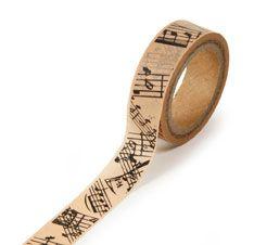 Tan Musical Note Washi Tape