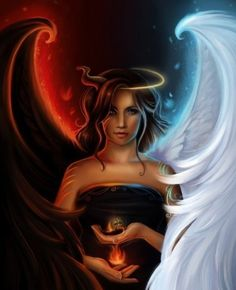 Image Ange Et Demon 50 meilleures images du tableau #anges et #démons | paintings