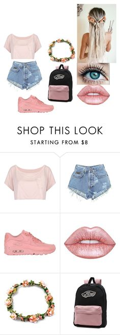 """park"" by lilianaduarte1234 ❤ liked on Polyvore featuring WithChic, Levi's, NIKE, Lime Crime and Vans"