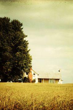 Landscape Photo  Fine Art Photography farmhouse by kimfearheiley