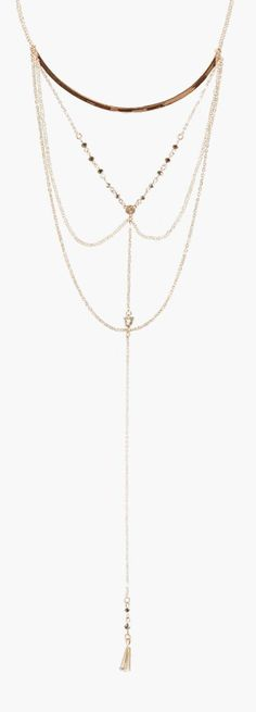 Faye Skinny Bar Statement Plunge Necklace - Necklaces  - Street Style, Fashion Looks And Outfit Ideas For Spring And Summer 2017