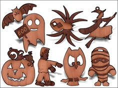 Party 8 Pack decorative wooden charms 1.5 inches by SandHonEtsy, $17.87