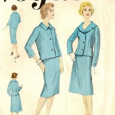 Vogue Classic, Basic Design 2-Piece Suit Pattern by SoSewSome, $10.00