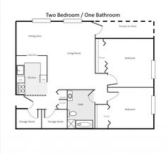 Two Bedroom Apartments Floor Plans