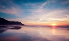 Stock Photo : Portugal, View of Praia do Castelejo at sunset