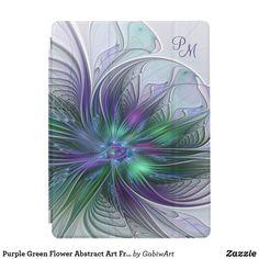 Shop Purple Green Flower Modern Abstract Art Fractal iPad Pro Cover created by GabiwArt. Art Fractal, Fractals, Ipad Pro, Abstract Flower Art, Modern Art Movements, Flower Graphic, Watercolor Artists, Abstract Photography, Artistic Photography