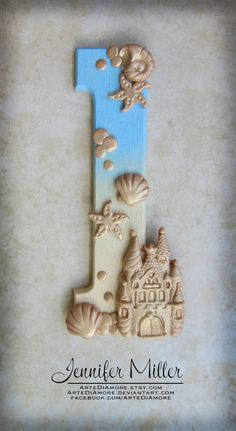 Sand Castle Number Birthday Cake Topper by ArteDiAmore on Etsy