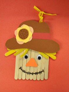 Thanksgiving Crafts for Kids - Popsicle Stick Scarecrow Crafts Daycare Crafts, Classroom Crafts, Preschool Crafts, Kids Crafts, Fete Halloween, Halloween Crafts, Holiday Crafts, Holiday Fun, Scarecrow Crafts