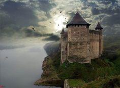 River Castle, Kunětice, Czech Republic