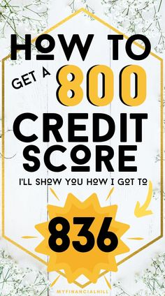 Are you looking for ways to increase your credit score? I will share credit score tips that can help bring your score to 800 or more. I was able to raise my credit score to 836 with simple tips you can easily do. If you're looking to improve, boost, or repair your credit score, check out these easy tips. #myfinancialhill #credit #creditrepair #creditscore #moneytips