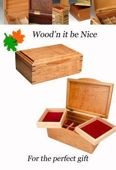 Handcrafted wood jewelry box. Quality built with premium American black cherry to create the perfect gift for anyone, and any occasion. Built with quality materials and high craftsmanship to ensure a lifetime of use and enjoyment. #woodbox #keepsakebox #jewelry box 5th Wedding Anniversary, Aesthetic Design, Professional Women, Wood Boxes, Keepsake Boxes, Jewelry Box, Cherry, Entertaining, Woman