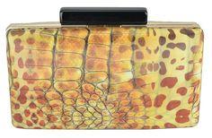 Bolsa Clutch 3D Oncinha. Linda e moderna essa bolsa de mão animal print vai desde balada e happy hour a festa.