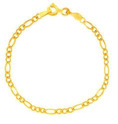 "14k Real Yellow Gold Figaro Anklet Spring Ring Ankle Bracelet 1.3mm 10"""