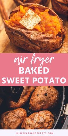 Love perfectly crispy and roasted Sweet Potatoes? Make them in your Air Fryer! These Air Fryer Baked Sweet Potatoes are light and fluffy on… Air Fryer Recipes Vegetarian, Air Fryer Oven Recipes, Air Frier Recipes, Air Fryer Dinner Recipes, Supper Recipes, Pampered Chef Recipes, Cooking Recipes, Fruit Recipes, Cooks Air Fryer