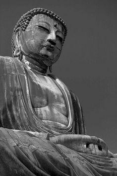 The Kamakura Daibutsu. A representation of Amida Buddha, The Buddha Of Infinite Light.