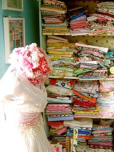 I can never bypass vintage fabric!