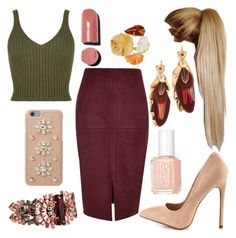 """""""Untitled #996"""" by princesslamisah ❤ liked on Polyvore featuring River Island, WearAll, Liliana, Chanel, Gas Bijoux, Essie, Elizabeth Cole, Saachi and MICHAEL Michael Kors"""