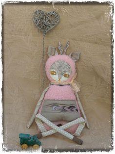 Marshmallow deer Craft 2.   Fabric Deer Soft DollDeer by LARION, Ft9020.00