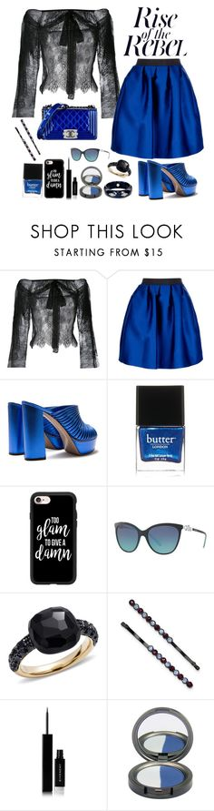 """""""Flirty, feminine & a bit of a rebel"""" by stephanielee4 ❤ liked on Polyvore featuring Philosophy di Lorenzo Serafini, P.A.R.O.S.H., Chanel, Butter London, Casetify, Tiffany & Co., Pomellato, 1928, Givenchy and Mark Davis"""