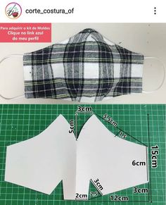 Small Sewing Projects, Sewing Hacks, Sewing Tutorials, Easy Face Masks, Diy Face Mask, Sewing Patterns Free, Clothing Patterns, Fabric Crafts, Sewing Crafts