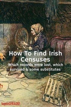 How to find Irish Censuses | Irish Genealogy Research | Census substitutes | bespokegenealogy.com