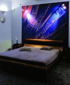 Dark Painting In Black Bedroom