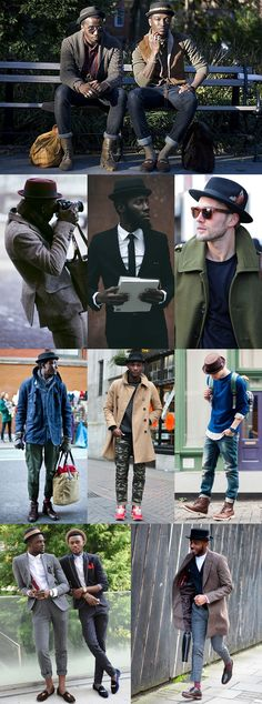 Great Hats for 2014 Autumn/Winter : The Pork Pie Lookbook Inspiration