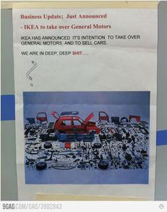 We are doomed if IKEA takes over General Motors