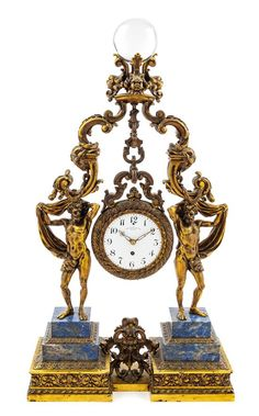 Clocks French Mantle Clock 19th Century Antique With Matching Candelabras Delicious In Taste Shelf, Mantel