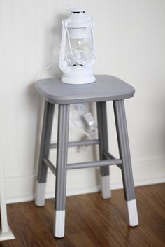 paint kitchen bar stools. if too tall for new bar, repurpose as nightstands or plant stands.