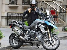 Orlando Bloom was spotted taking his 2013 BMW R1200GS motorcycle for a spin in New York City.