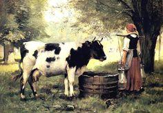 La laitiere et sa vache par Julien Dupré