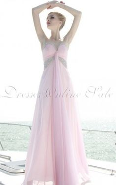 Pink A-line Floor-length Sweetheart Dress