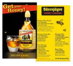Barenjager Recipe Card - designed by Julija Slavikas at Sidney Frank Importing Co.