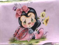 Pintura em Tecido Passo a Passo: Pintura em tecido - joaninha bebê