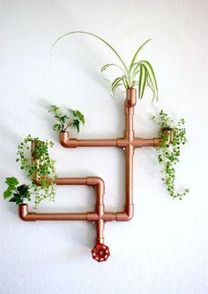 Haz un macetero con tuberias de pvc color cobre ~ Solountip.com