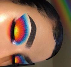 baddie makeup – Hair and beauty tips, tricks and tutorials Makeup Eye Looks, Eye Makeup Art, Colorful Eye Makeup, Crazy Makeup, Cute Makeup, Skin Makeup, Eyeshadow Makeup, Eyeshadows, Crazy Eyeshadow
