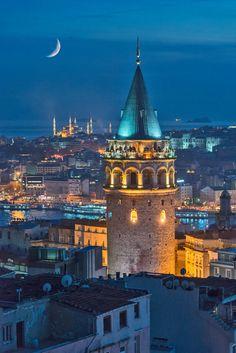The Galata Tower (Galata Kulesi in Turkish) _SAL4634 /by Salvator Barki