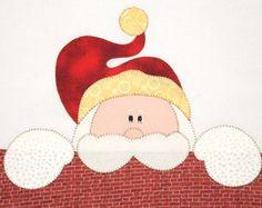 Pano de Prato Christmas Applique, Christmas Sewing, Felt Christmas, Christmas Projects, Holiday Crafts, Christmas Stockings, Applique Towels, Applique Patterns, Applique Designs